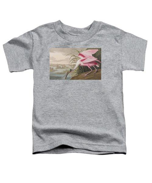 Roseate Spoonbill Toddler T-Shirt by John James Audubon