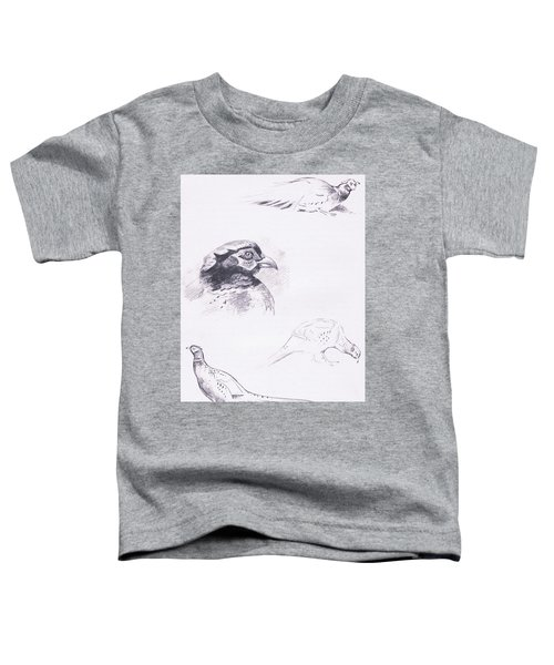 Pheasants Toddler T-Shirt by Archibald Thorburn