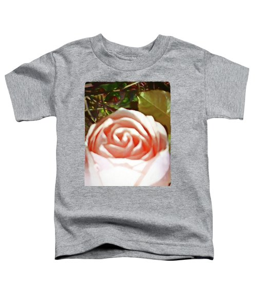 A Pale Pink Rosebud Toddler T-Shirt by Jackie VanO