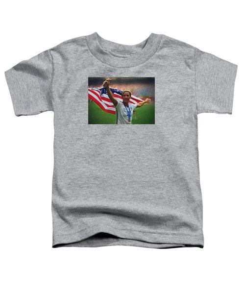 Abby Wambach Us Soccer Toddler T-Shirt by Semih Yurdabak