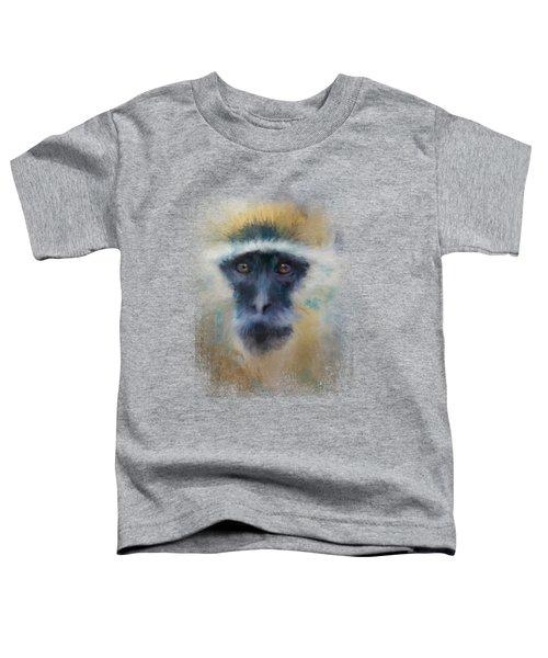 African Grivet Monkey Toddler T-Shirt by Jai Johnson