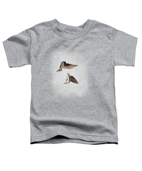 Airobatics - Tree Swallows Toddler T-Shirt by Jai Johnson