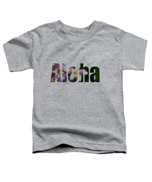 Aloha Orchids Type Toddler T-Shirt by Kerri Ligatich