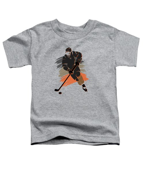 Anaheim Ducks Player Shirt Toddler T-Shirt by Joe Hamilton