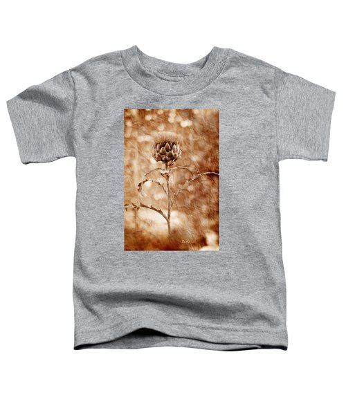 Artichoke Bloom Toddler T-Shirt by La Rae  Roberts