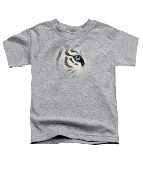 Blue Eye Toddler T-Shirt by Lucie Bilodeau