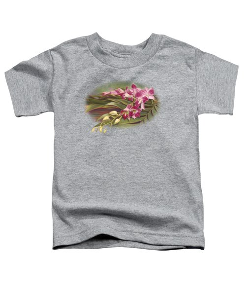 Dendrobium Orchids Toddler T-Shirt by Lucie Bilodeau