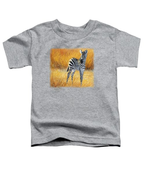 Baby Zebra Toddler T-Shirt by Lucie Bilodeau