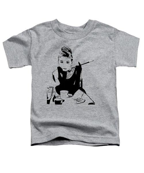 Audrey Hepburn Toddler T-Shirt by Ryan Burton