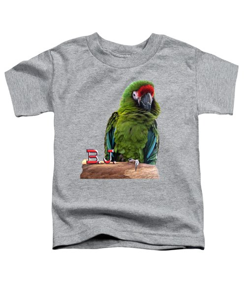 B. J., The Military Macaw Toddler T-Shirt by Zazu's House Parrot Sanctuary