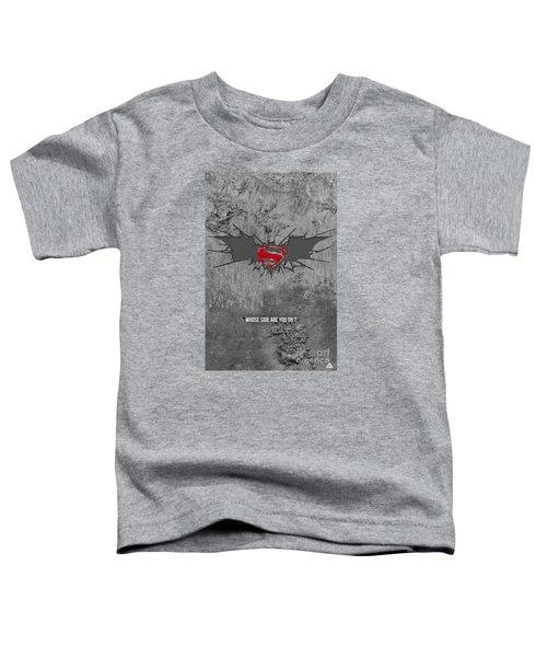 Batman V Superman Toddler T-Shirt by Parikshit Deshmukh