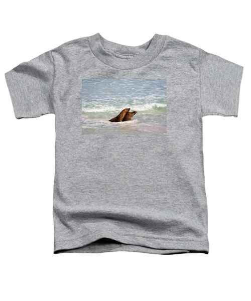 Battle For The Beach Toddler T-Shirt by Mike  Dawson