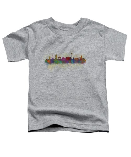 Berlin City Skyline Hq 5 Toddler T-Shirt by HQ Photo