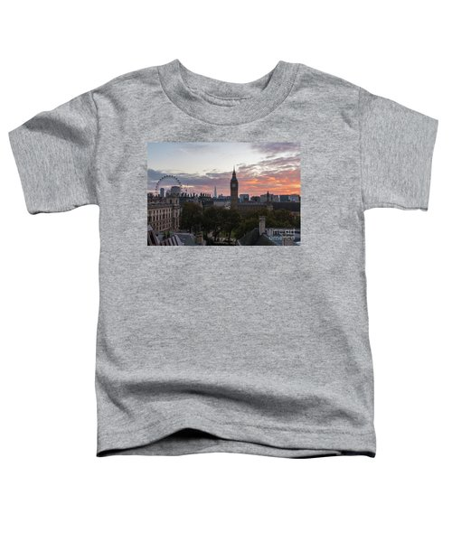 Big Ben London Sunrise Toddler T-Shirt by Mike Reid