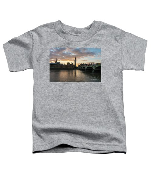 Big Ben London Sunset Toddler T-Shirt by Mike Reid