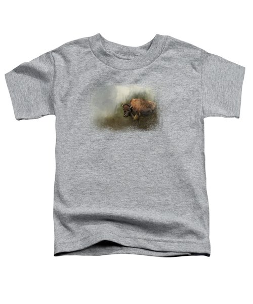 Bison After The Mud Bath Toddler T-Shirt by Jai Johnson