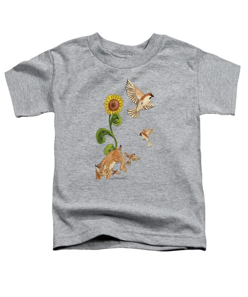 Bobcats And Beeswax Toddler T-Shirt by Teighlor Chaney