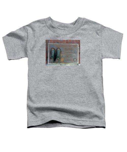 Boston Celtics Larry Bird Toddler T-Shirt by Gina Sullivan