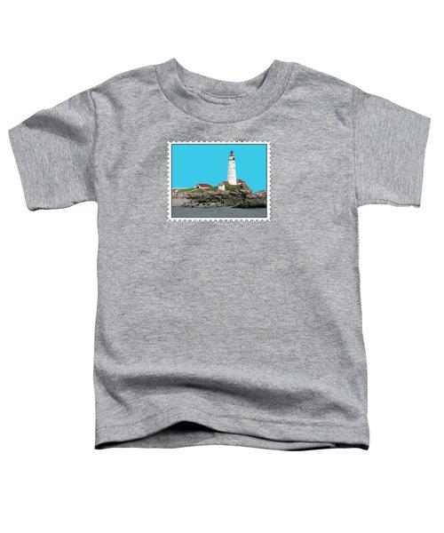 Boston Harbor Lighthouse Toddler T-Shirt by Elaine Plesser