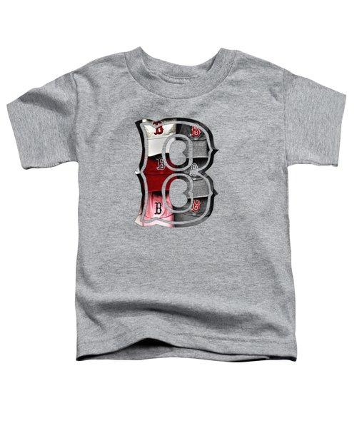 Boston Red Sox B Logo Toddler T-Shirt by Joann Vitali