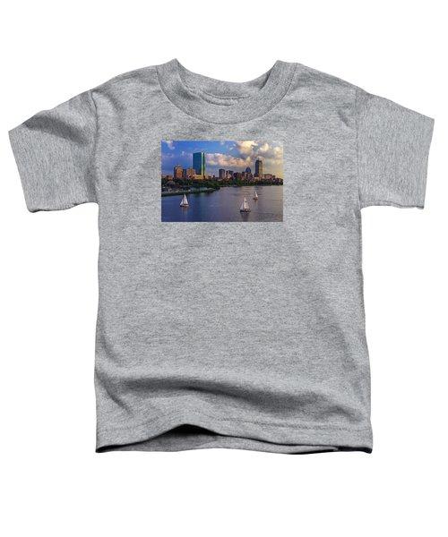 Boston Skyline Toddler T-Shirt by Rick Berk