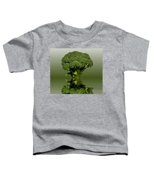Broccoli Green Veg Toddler T-Shirt by David French