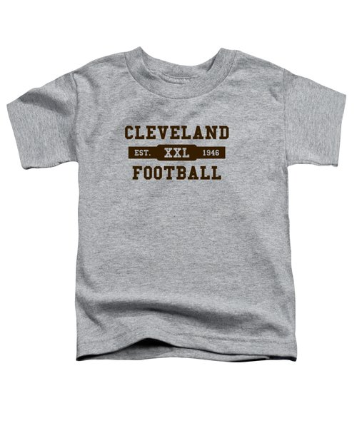 Browns Retro Shirt Toddler T-Shirt by Joe Hamilton