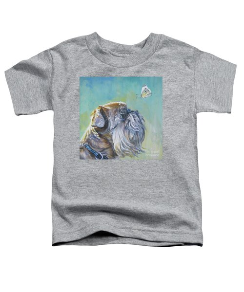Brussels Griffon With Butterfly Toddler T-Shirt by Lee Ann Shepard