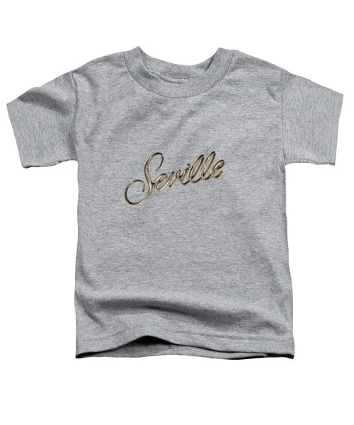 Cadillac Seville Emblem Toddler T-Shirt by YoPedro