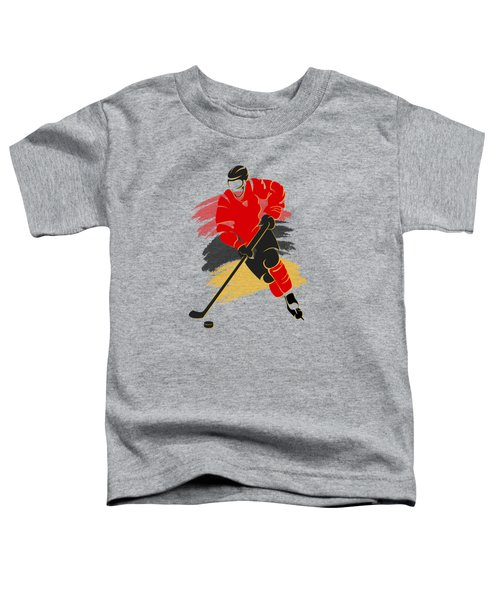 Calgary Flames Player Shirt Toddler T-Shirt by Joe Hamilton