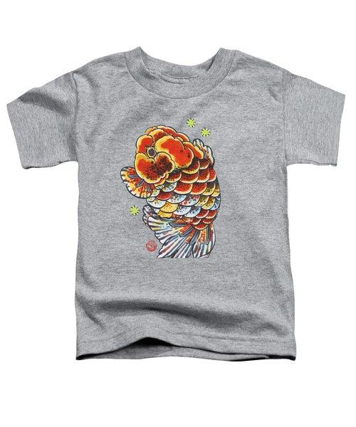 Calico Ranchu Toddler T-Shirt by Shih Chang Yang