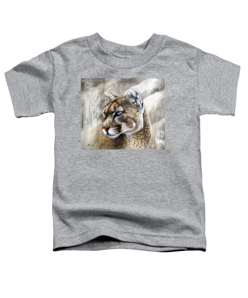 Catamount Toddler T-Shirt by Sandi Baker