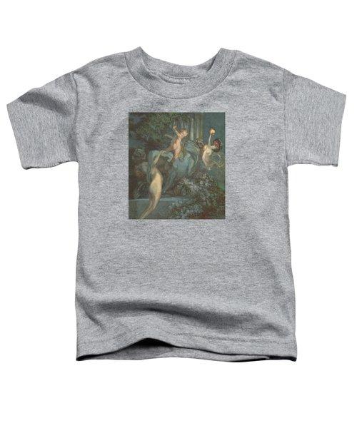 Centaur Nymphs And Cupid Toddler T-Shirt by Franz von Bayros