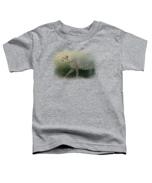 Cheetah On The Prowl Toddler T-Shirt by Jai Johnson