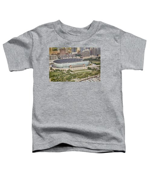 Chicago's Soldier Field Aerial Toddler T-Shirt by Adam Romanowicz