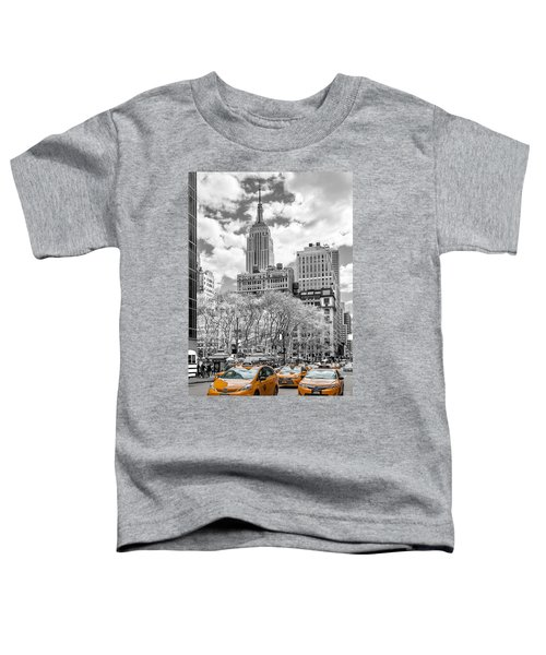City Of Cabs Toddler T-Shirt by Az Jackson