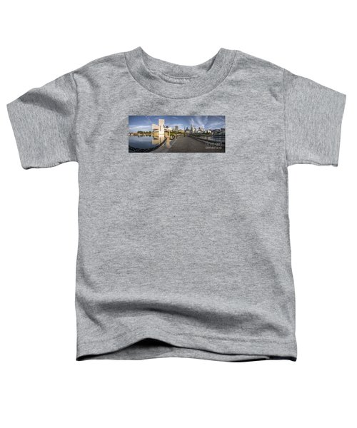 Cleveland Panorama Toddler T-Shirt by James Dean