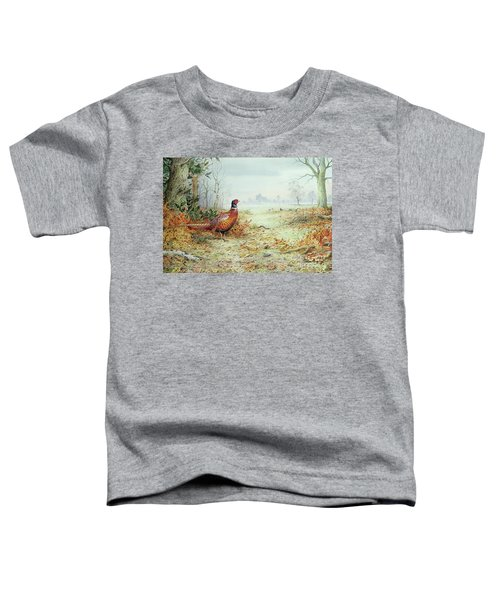 Cock Pheasant  Toddler T-Shirt by Carl Donner