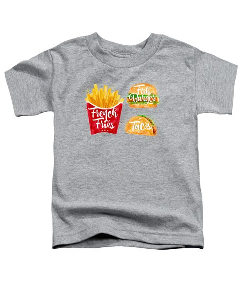 Color French Fries Toddler T-Shirt by Aloke Design