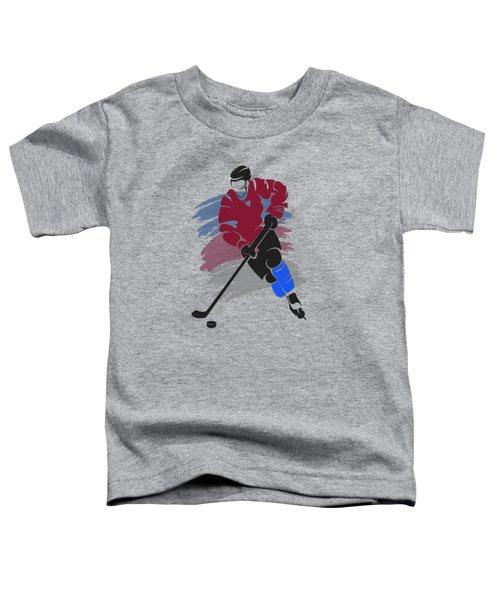 Colorado Avalanche Player Shirt Toddler T-Shirt by Joe Hamilton
