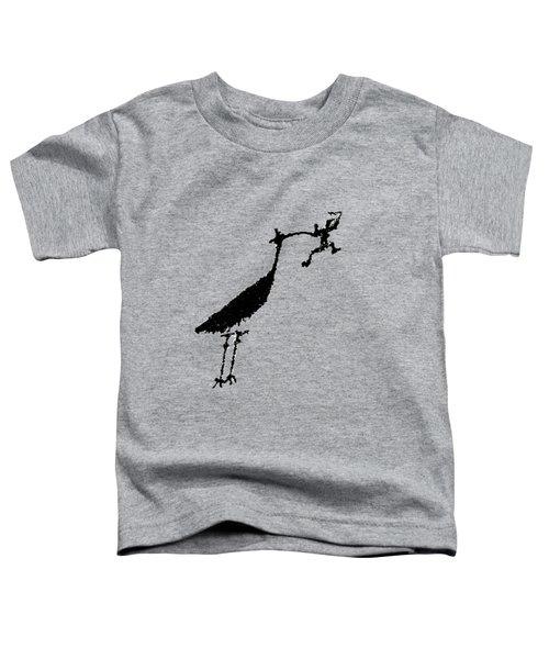 Crane Petroglyph Toddler T-Shirt by Melany Sarafis