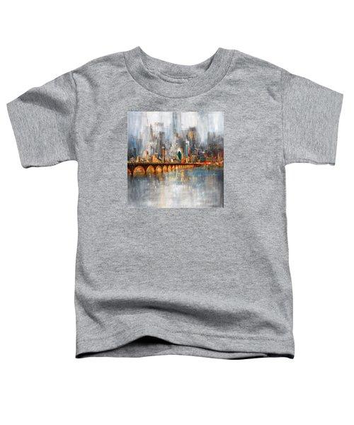 Dallas Skyline 217 1 Toddler T-Shirt by Mawra Tahreem