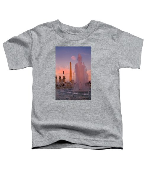 Dc Sunset Toddler T-Shirt by Betsy Knapp