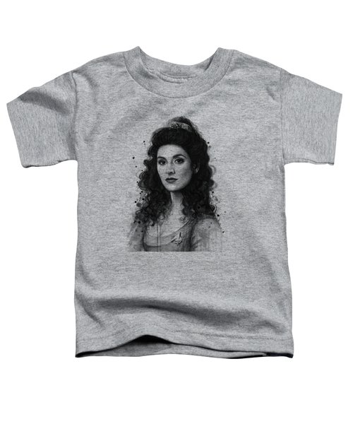 Deanna Troi - Star Trek Fan Art Toddler T-Shirt by Olga Shvartsur