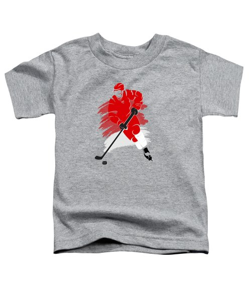 Detroit Red Wings Player Shirt Toddler T-Shirt by Joe Hamilton