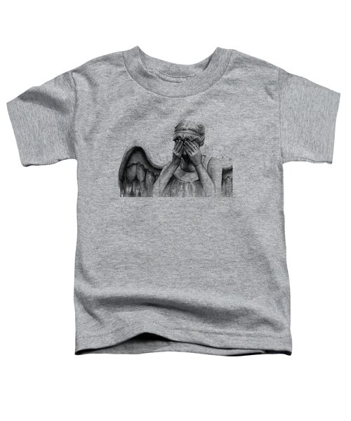 Doctor Who Weeping Angel Don't Blink Toddler T-Shirt by Olga Shvartsur