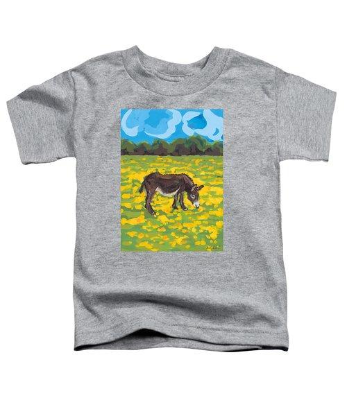 Donkey And Buttercup Field Toddler T-Shirt by Sarah Gillard