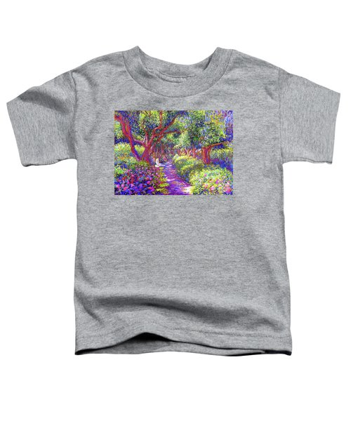 Dove And Healing Garden Toddler T-Shirt by Jane Small