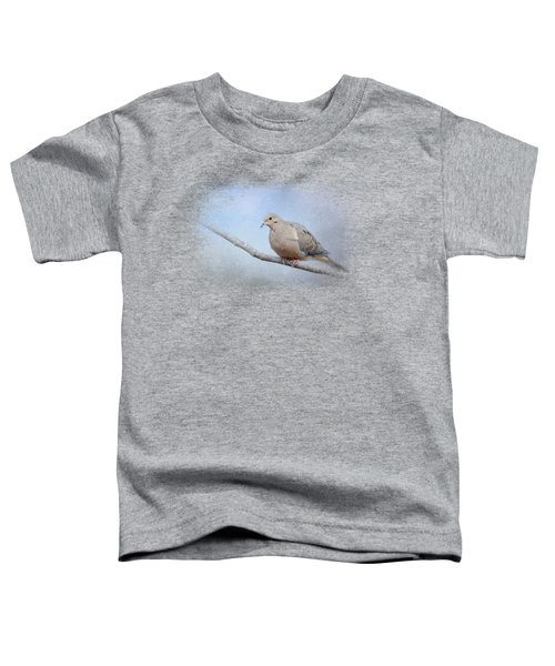 Dove In The Snow Toddler T-Shirt by Jai Johnson