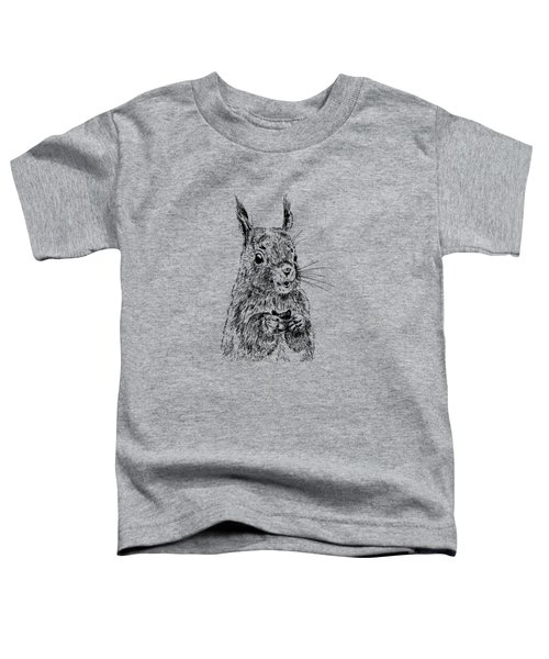 Eating Squirrel Toddler T-Shirt by Masha Batkova
